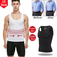 Ultra Lift Men Slimming Body Shaper Vest Abdomen T-Shirt Compression Sport Tank
