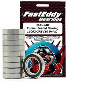 15X32X8 Rubber Sealed Bearing 16002-2RS (10 Units)