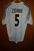 REAL MADRID SPAIN 2004/2005 HOME FOOTBALL SHIRT CAMISETA JERSEY ADIDAS #5 ZIDANE