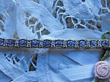Designer Hakimi 14K Gold 7.80 CTW Tanzanite and Diamond  Bracelet GIA Appraisal