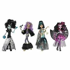 4 Monster High GHOULS RULE Dolls Clawdeen CLEO Draculaura FRANKIE