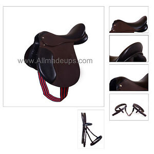 All Purpose English Leather Saddle - Package