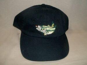 Fishing Ballcap:  Eat More Fish, Black