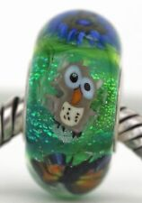 MEADOW animals sterling silver core european charm bead fine lampwork glass MWR