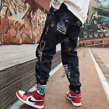 Hip hop Pants Men Loose Joggers Print Streetwear Harem Pants Clothes Ankle lengt