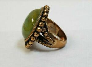 Stephen Dweck Abalone & Rock Crystal Brass Ring ring 7.5 with designer bag
