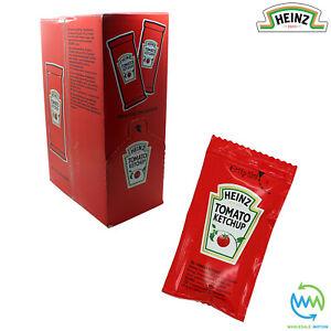 HEINZ TOMATO KETCHUP Sachets 11g 10ml RED SAUCE Individual Single Portion SACHET