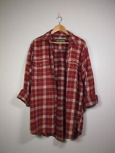 Vintage Field & Stream Flannel Outerwear Red/White XL