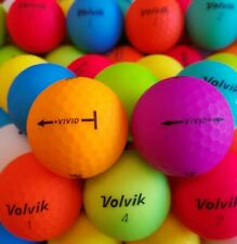 48 TRULY MINT 5A Volvik VIVID Golf Balls - Assorted Colors - FREE SHIPPING