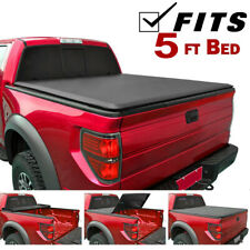 Fit 2015-Up Nissan Frontier Crew Cab Soft Lock Tri-Folding Tonneau Truck Cover