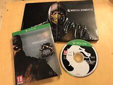 XBOX 360 COD GAME MORTAL KOMBAT SPECIAL COLLECTOR'S STEELBOOK EDITION