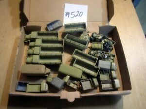 #520 1:72 fertig bemalte Bausätze Fertigmodelle WKII LKW + Anhänger RSO Flak ...
