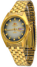 Orient FAB00001P Men's 3 Star Standard Gold Tone Brown Dial Automatic Watch