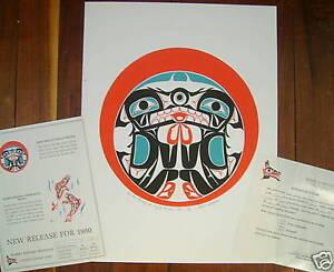 1980 Native Art Print, Bear Thru Sun #73 of 90 Sebastian