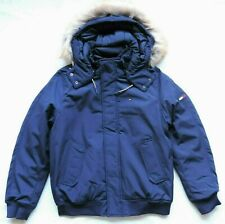 Tommy Hilfiger Mens Parka Jacket with Faux Fur Hood, Navy...