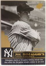 2009 SPx Joe DiMaggio Career Highlights #JD45 Joe DiMaggio 300/425 Yankees!!