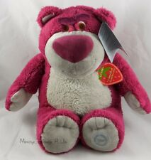 "NEW Genuine Disney Store Toy Story 3 Lotso Bear 15"" Plush Doll Strawberry Scent"