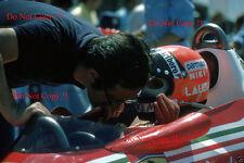 Niki Lauda & Ferrari Mauro Forghieri Francés Grand Prix 1977 fotografía 1