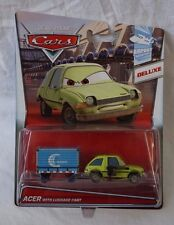 Disney Pixar Cars Airport Adventure Deluxe Acer With Luggage Cart Die Cast NEW