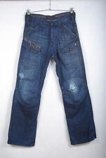 P807/54 G-Star Storm Elwood Trap Embro Blue Cotton Cargo Combat Jeans, W32 L34