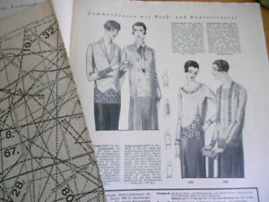 Vintage Modeheft 25/1928 Vobachs Familienhilfe mit Schnittmusterbogen