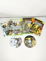Lot of 2 Ghost Recon 2 Final Assault Xbox,  360 Ghost Recon advanced warfighter