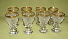 8 Theresienthal Pokalgläser mit Diamantschliff