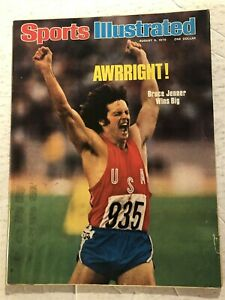 1976 Sports Illustrated USA Olympics BRUCE JENNER No Label DECATHLON Gold Medal