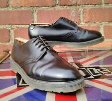 Made in England Solovair 1462 black 4 eye shoes UK 12 Oi! Punk Skin Docs MINT!