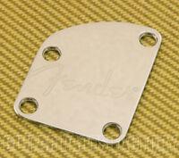 770-8383-000 Fender Guitar Strat/Tele Deluxe Chrome Neck Plate w/ Spaghetti Logo