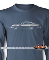 Aston Martin DB5 Coupe James Bond 007 Long Sleeves T-Shirt - Multi. Colors Sizes
