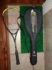 Wilson Hyper Hammer Carbon 155 Squash Racquet w/Power Holes Techology + Case