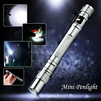 Enjoydeal LED 10000Lumens Lamp Clip Mini Penlight Flashlight Torch AAA NICE