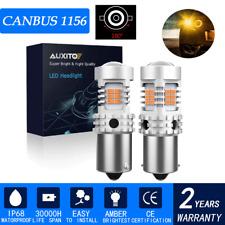 2PCS 1156 BA15S Amber Yellow LED Turn Signal Brake Light Bulbs Anty Hyper Flash