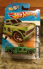 2012 HOT WHEELS® CITY WORKS® ELECTRIC GREEN CUSTOM '69 CHEVY PICKUP #140/247