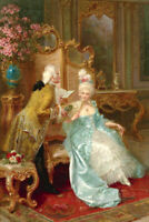 Sweet poetry reading Classical oil painting Giclee Art Printed on canvas L2633