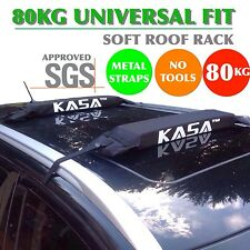 DOUBLE SOFT ROOF RACKS CAR ROOF LUGGAGE KAYAK SURFBOARD FISHING SKIS SUP CANOE