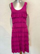 New Tango Mango Women's Stretch Ruffle Magento Dress Swarovski Crystal Bodice M