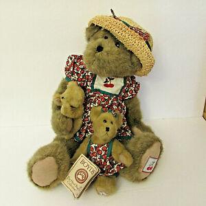 "2 Boyds Bears Miranda Cherrybeary and Bing Plush 16""Kay Cherrybeary 6"""
