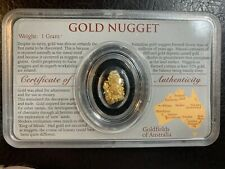 Rare Australian Gold Nugget / Certified of Authenticity Genuine Perth Mint
