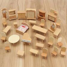 Doll house 29 Piece Miniature Furniture Set 1:24
