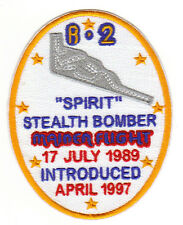 B-2 SPIRIT STEALTH BOMBER MAIDEN FLIGHT PATCH, 17 JULY 1989, INTRODUCED APR 97 Y