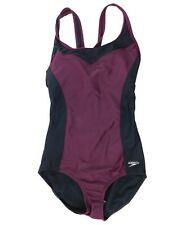 New listing Speedo Women's Extra Extra Large Swimsuit One Piece Purple Black Built In Cups