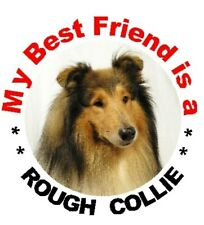 2 Rough Collie Car Stickers By Starprint - Auto combined postage