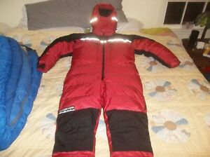 Feathered Friends Goose Down 8000m Himalayan Expedition Climbing Suit NEW Large