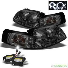 For 8000K Slim Xenon HID+Smoked 99-04 Mustang Halo Pro Headlights Head Lights