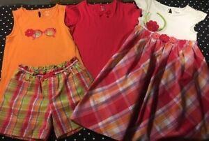 Gymboree Pretty Posies dress shorts tee top headband 10 12 lot set bundle