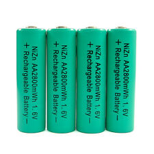 4 AA Green 2800mWh NiZn 1.6V Volt Rechargeable Battery for RC Camera Flashlight