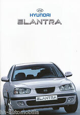 Hyundai Elantra folleto 2/01 car brochure auto folleto auto turismos 2001 corea