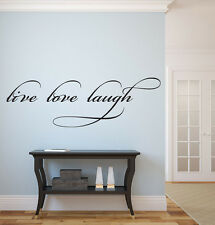 """Live Laugh Love Vinyl Wall Decal Graphic 20""""x7"""" Home Decor Wall Decals"""